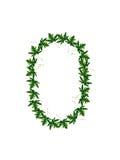 Liczba (0) zieleni liście Obraz Royalty Free
