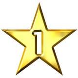 liczby 1 gwiazda Zdjęcie Stock