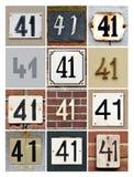 Liczby 41 fotografia stock