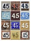 Liczby 45 zdjęcia stock