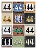 Liczby 44 obraz stock