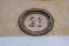 Liczby 26 adresu znak Obrazy Royalty Free