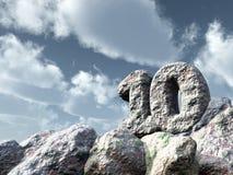 Liczby dziesięć skała Fotografia Stock