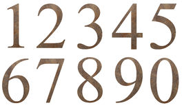 Liczby grunge wzór Fotografia Royalty Free