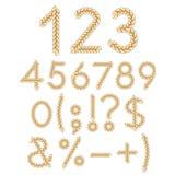 Liczby i znaki warkocze Odosobneni wektorów przedmioty ilustracja wektor