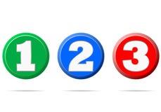 Liczby 1 2 3 - ilustracja Obraz Stock