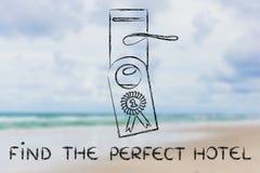 Liczby jeden best dylowy: znajduje perfect hotel Zdjęcie Royalty Free