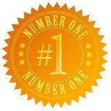 Liczby jeden złocista foka Fotografia Royalty Free