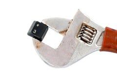 Liczby 3 klucz na nastawczych cążków fajczanym wyrwaniu Fotografia Royalty Free