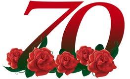 Liczby 70 kwiat Obrazy Stock