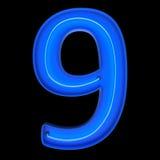 Liczby liczą neonowych tubk 3d ilustrację Obrazy Royalty Free