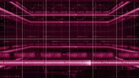 Liczby linii 360 obracania okręgu technologii tła 4K pętla ilustracja wektor