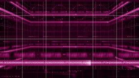 Liczby linii 360 obracania okręgu technologii tła 4K pętla ilustracji
