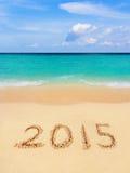 Liczby 2015 na plaży Obrazy Stock