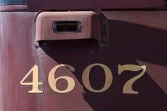 Liczby na pociągu Fotografia Stock