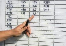 Liczby na pokładzie Fotografia Stock