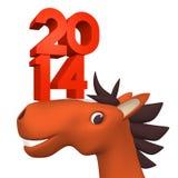 2014 liczby Na Rozochoconej koń twarzy Obrazy Royalty Free