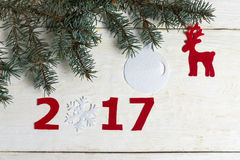 Liczby nowy rok Fotografia Stock