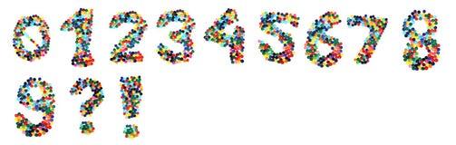 Liczby od plastikowych nakrętek Obrazy Royalty Free