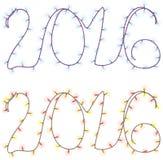 Liczby przyszły rok Zdjęcie Stock
