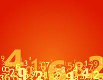 liczby tło ilustracja wektor