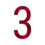 Liczby 3 trzy abecadło Zdjęcie Stock