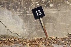 Liczby trzynaście znak Fotografia Royalty Free