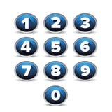 Liczby ustalony wektorowy błękit Fotografia Royalty Free