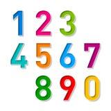 Liczby ustawiać Zdjęcie Royalty Free
