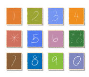 Liczby ustawiać na papieru cięciu royalty ilustracja