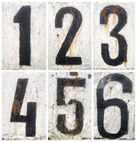 Liczby ustawiać Zdjęcie Stock