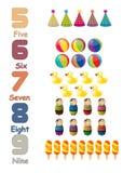 Liczby ustawiają 02 royalty ilustracja