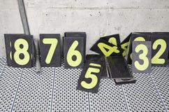 Liczby w ścigają się ciężarówkę Obrazy Royalty Free