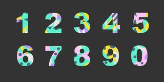 Liczby z abstrakcjonistyczną pełnią royalty ilustracja