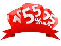 Liczby z procentów symbolami i pustym faborkiem Obraz Royalty Free
