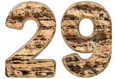 Liczebnik 29, dwadzieścia dziewięć, odizolowywający na białym, naturalnym wapniu, 3 Zdjęcie Royalty Free