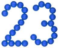 Liczebnik 23, dwadzieścia trzy, od dekoracyjnych piłek, odizolowywać na whi Zdjęcia Royalty Free