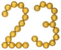 Liczebnik 23, dwadzieścia trzy, od dekoracyjnych piłek, odizolowywać na whi Zdjęcia Stock