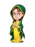 Śliczna dama Guadalupe ilustracja wektor