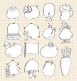 śliczna deskowa kreskówka Royalty Ilustracja