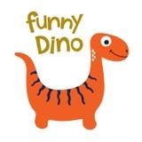Śliczna Dino ilustracja Fotografia Royalty Free