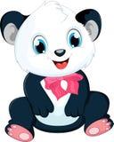 Śliczna dziecko pandy kreskówka Obrazy Stock
