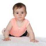 Śliczna dziewczynka na dywanie Obraz Royalty Free