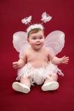 Śliczna dziewczynka z motylim kostiumem fotografia stock