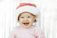 Śliczna dziewczynka z Santa kapeluszem Zdjęcie Royalty Free