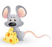 śliczna głodna mysz Zdjęcia Stock