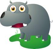 Śliczna hipopotam pozycja Zdjęcia Stock