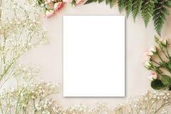 Śliczna i elegancka oznakuje mockup fotografia Obrazy Stock