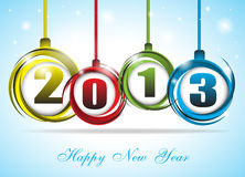 Śliczna i kolorowa karta na nowym roku 2013 Zdjęcia Royalty Free