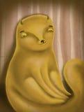 Śliczna ilustracja kot Zdjęcia Royalty Free